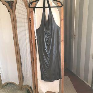 Drapey, metallic dress